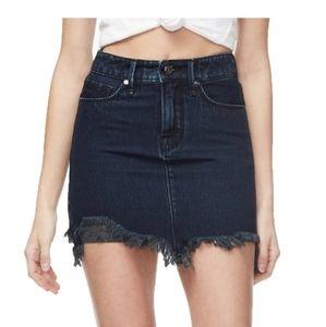 Good American The Frayed Mini denim skirt sz 10